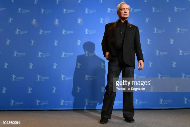 Udo Kier poses at the 'Don't Worry He Won't Get Far on Foot' photo call during the 68th Berlinale International Film Festival Berlin at Grand Hyatt...