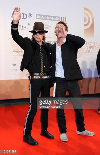 Udo Lindenberg and Clueso attend Deutscher Radiopreis 2012 at Schuppen 52 on September 6 2012 in Hamburg Germany