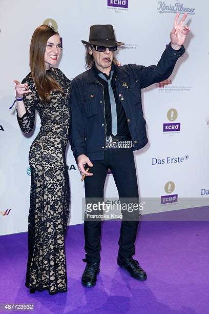 Udo Lindenberg and Josephin Busch attend the Echo Award 2015 on March 26 2015 in Berlin Germany
