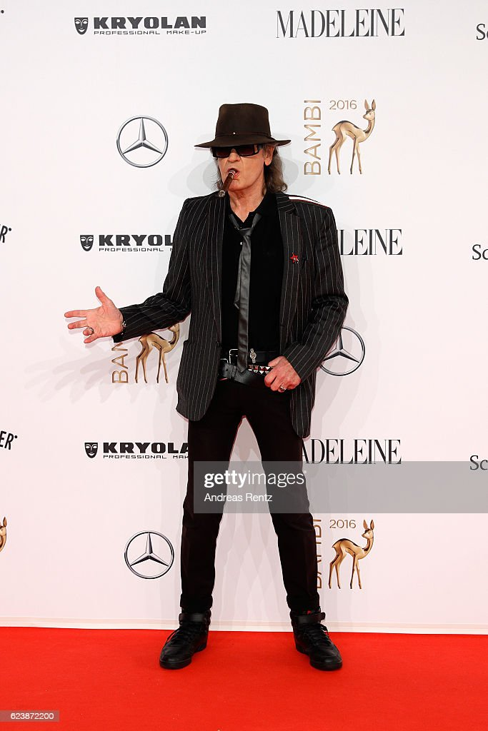 Udo Lindenberg arrives at the Bambi Awards 2016 at Stage Theater on November 17, 2016 in Berlin, Germany.