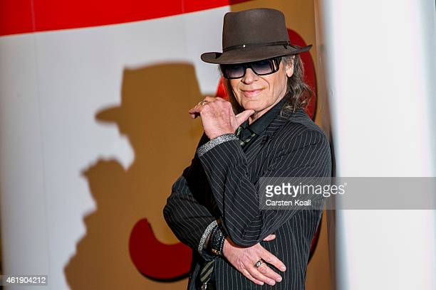 Udo Lindenberg arrives at the red carpet of the BZ Kulturpreis at Komische Oper on January 21 2015 in Berlin Germany
