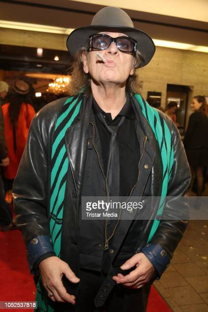 Udo Lindenberg attends the HansaTheater Hamburg celebrates 125th anniversary and premieres the new season on October 18 2018 in Hamburg Germany