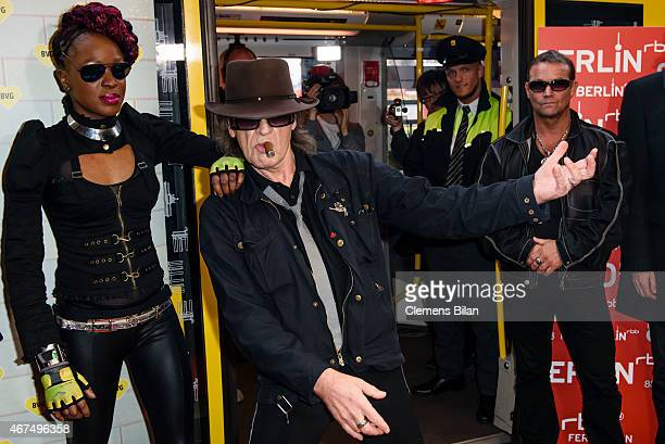 Udo Lindenberg attends the 'Sonderzug nach Pankow' Photocall on March 25 2015 in Berlin Germany