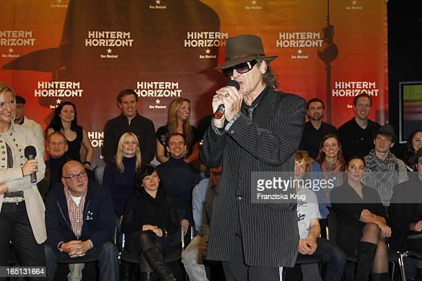 Udo Lindenberg Bei Der Pressekonferenz Zum Probenstart Zu Hinterm Horizont Das Musical Im Ballhaus Rixdorf In Berlin