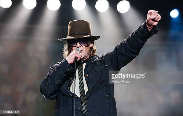 Udo Lindenberg performs live during the 'Rock Gegen Rechts concert on December 2 2011 in Jena Germany The event is a reaction to the killings of a...