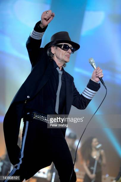 Udo Lindenberg performs on stage at the KoenigPilsenerArena on March 17 2012 in Oberhausen Germany