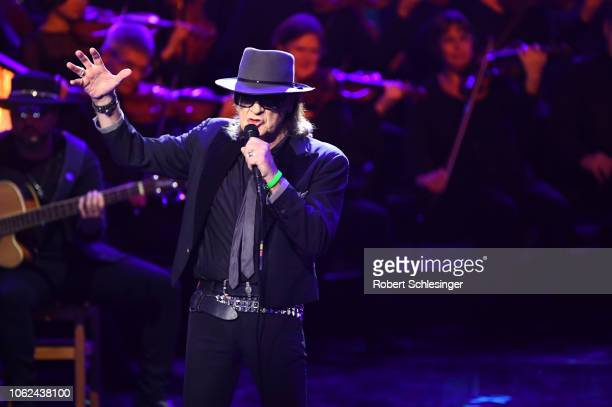 Udo Lindenberg performs on stage during the 70th Bambi Awards show at Stage Theater on November 16 2018 in Berlin Germany