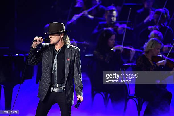 Udo Lindenberg performs on stage during the Bambi Awards 2016 show at Stage Theater on November 17 2016 in Berlin Germany
