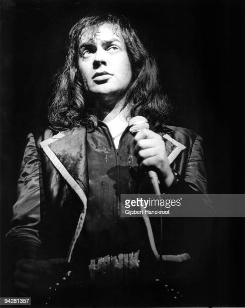 Udo Lindenberg performs on stage in 1975 in Germany