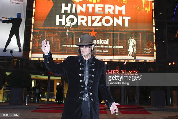 Udo Lindenberg Stellt Sein Musical Hinterm Horizont Am Theater Am Potsdamer Platz In Berlin Vor