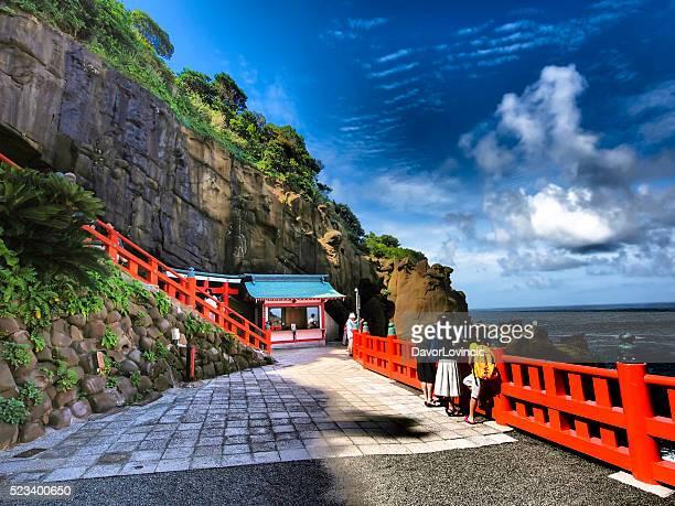 Udo shrine on Nichinan coast on south Japan