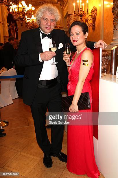 Udo Wachtveitl and Lila Schulz during the Semper Opera Ball 2015 at Semperoper on January 30 2015 in Dresden Germany