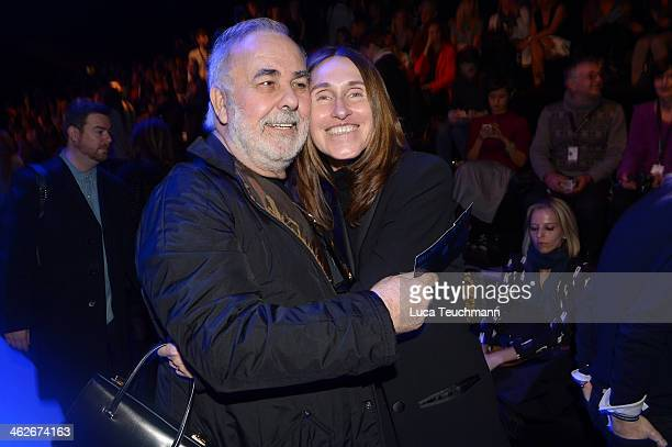 Udo Walz and Annette Weber attend the Riani show during MercedesBenz Fashion Week Autumn/Winter 2014/15 at Brandenburg Gate on January 14 2014 in...