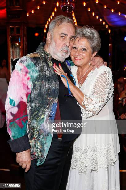 Udo Walz and Dagmar Frederic attend Udo Walz's 70th Birthday celebration at BAR jeder Vernunft on July 28 2014 in Berlin Germany