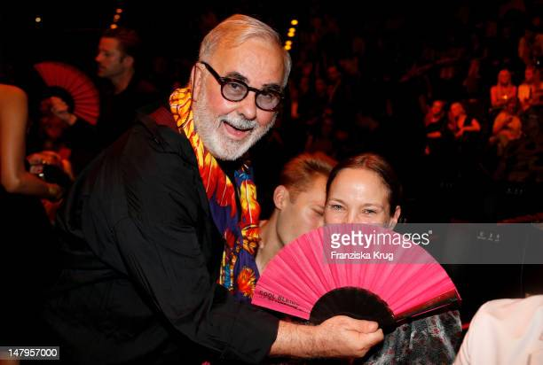 Udo Walz and Jeanette Hain attend during the Michalsky Style Nite 2012 at MercedesBenz Fashion Week Berlin Spring/Summer 2013 at Tempodrom on July 6...