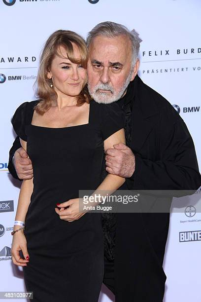 Udo Walz and Katharine Mehrling attend the Felix Burda Award 2014 at Hotel Adlon on April 6 2014 in Berlin Germany