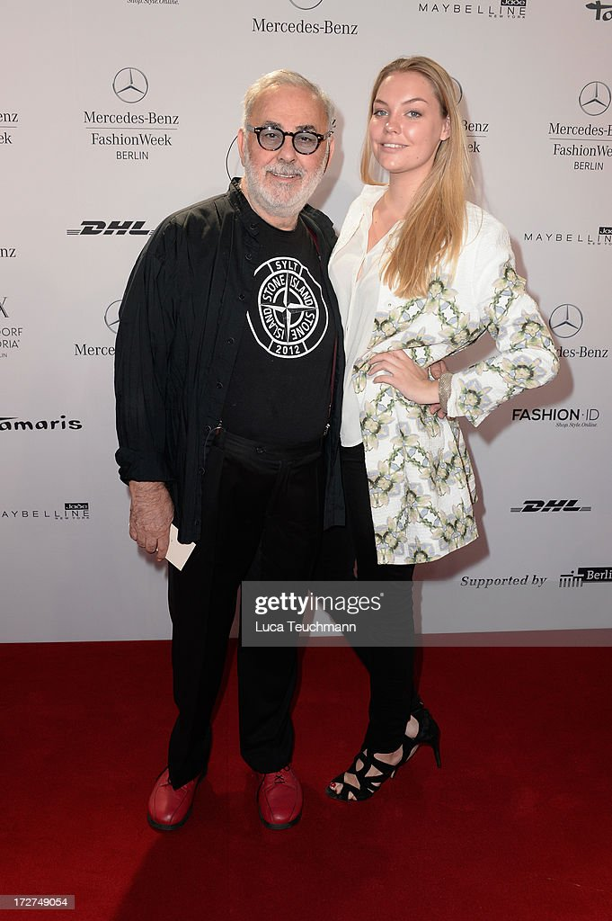Udo Walz (L) attends the Schumacher Show during Mercedes-Benz Fashion Week Spring/Summer 2014 at Brandenburg Gate on July 4, 2013 in Berlin, Germany.