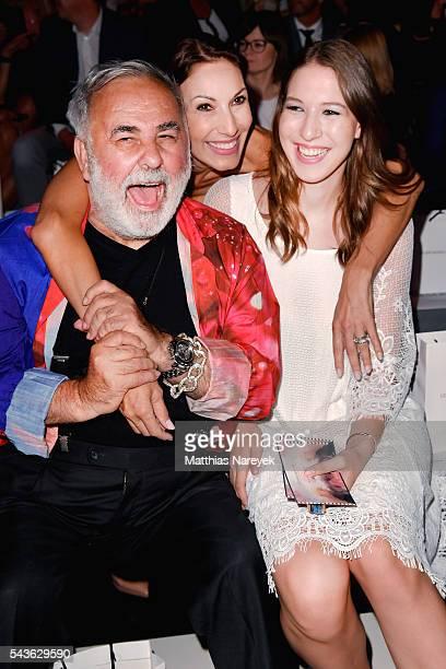 Udo Walz Dagmar Koegel and her daughter Alana Siegel attend the Guido Maria Kretschmer show during the MercedesBenz Fashion Week Berlin Spring/Summer...