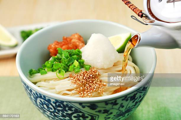 udon - bukkake udon stock pictures, royalty-free photos & images