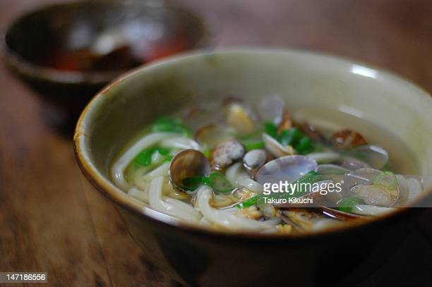 udon with asari clams