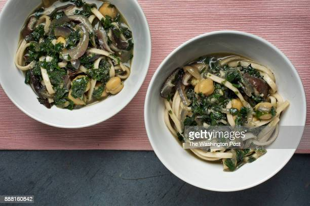 WASHINGTON DC Udon With Mushrooms and Kale in Miso Broth photographed in Washington DC