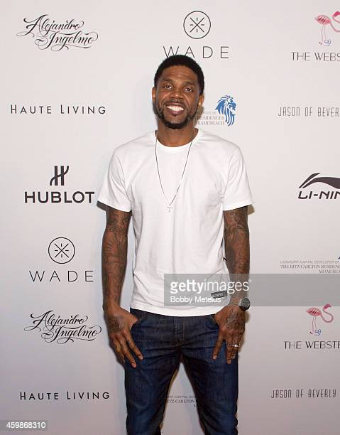 Udonis Haslem attends Haute Living and The Webster event hosted by Dwyane Wade and footwear desinger Alejandro Ingelmo during Art Basel at...