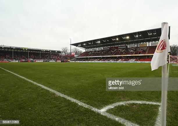 Uebersicht Übersicht Eckfahne Sportstaette Sportstätte FC Energie Cottbus zweite Bundesliga Sport Fußball Fussball Stadion der Freundschaft Cottbus...