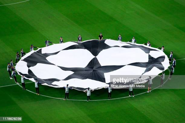 Ueefa Champions League logo during the UEFA Champions League group F match between FC Barcelona and Inter at Camp Nou on October 02 2019 in Barcelona...