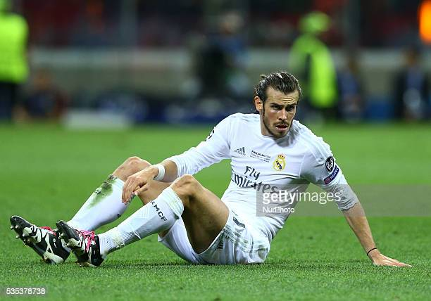 Real Madrid vs Atletico Madrid Gareth Bale at San Siro Stadium in Milan Italy on May 28 2016