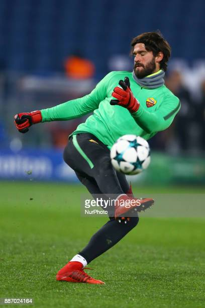Group C Roma v Qarabag Alisson Becker of Roma at Olimpico Stadium in Rome Italy on December 5 2017