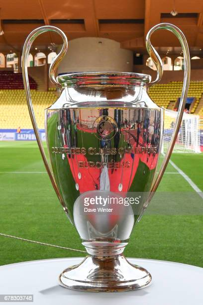 Uefa Champions League Trophy the Uefa Champions League match semi final first leg between As Monaco and Juventus FC at Stade Louis II on May 3 2017...