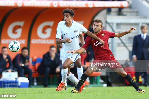 Group C Roma v Chelsea Jacob Maddox of Chelsea and Andrea Marcucci of Roma at Tre Fontane Stadium in Rome Italy on October 31 2017 Photo Matteo...