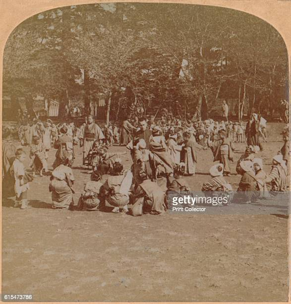 Ueno Park the Children's Paradise of Tokyo Japan' 1896 From The Underwood Travel Library Japan [Strohmeyer Wyman New York 1896] Artist Unknown