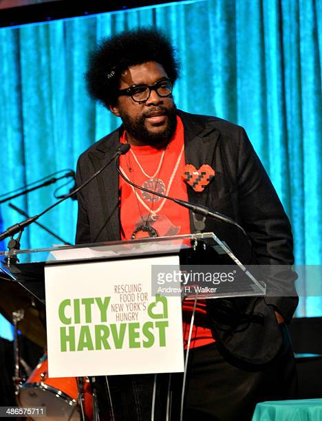 Uestlove speaks onstage at City Harvest: An Event Of Practical Magic on April 24, 2014 in New York City.