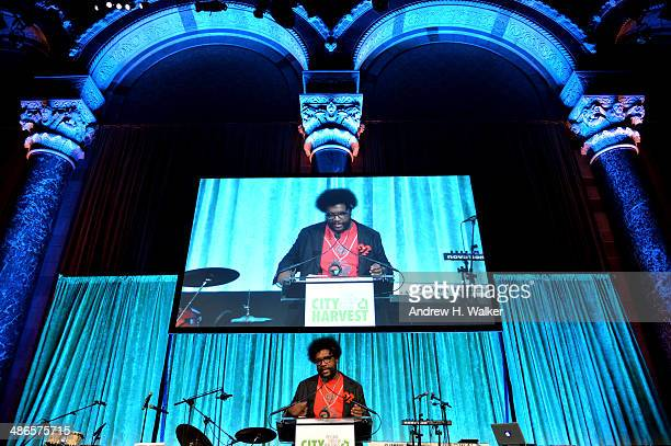 uestlove speaks onstage at City Harvest An Event Of Practical Magic on April 24 2014 in New York City