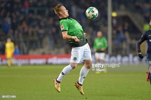Uffe Bech of Hannover controls the ball during the HHotelscom Wintercup match between Hertha BSC and Hannover 96 at SchuecoArena on January 6 2018 in...