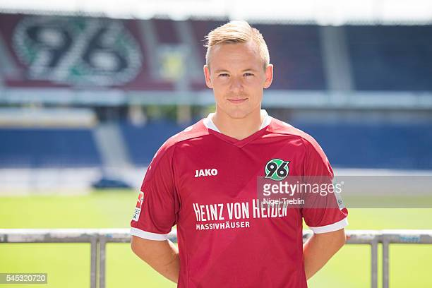 Uffe Bech poses during the team presentation of Hannover 96 on July 7 2016 in Hanover Germany