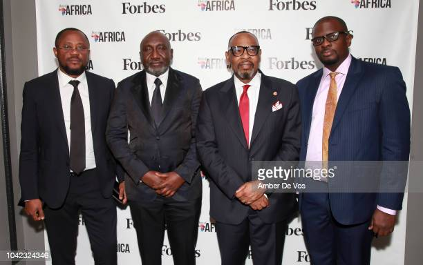 Ufuoma Imonioro Frank Peters Victor Okoronkwo and Oluwole Asalu attend Benedict Peters Receives Forbes Best Oil and Gas Leader of the Year Award...