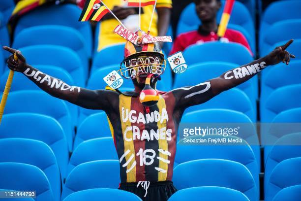 Uganda fan during the 2019 Africa Cup of Nations Group A match between DR Congo and Uganda at Cairo International Stadium on June 22 2019 in Cairo...