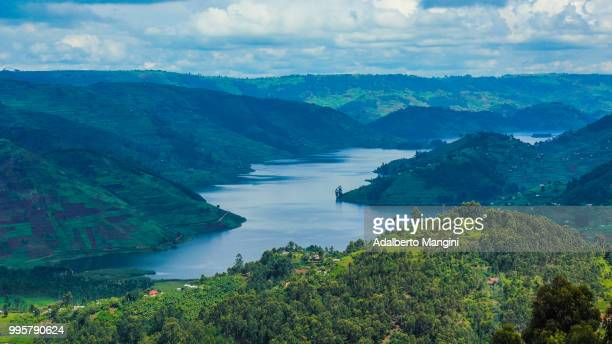 uganda is green....and blue - uganda stock pictures, royalty-free photos & images