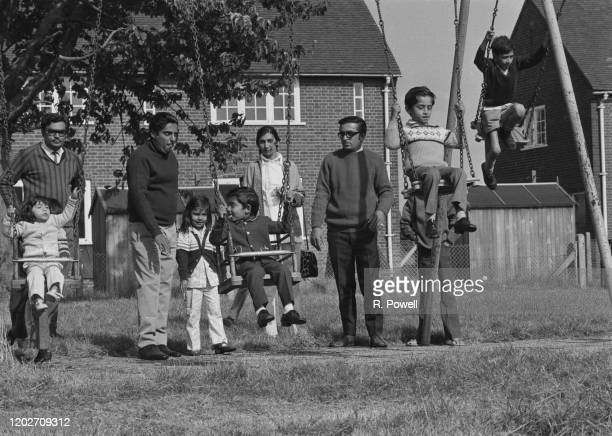 Ugandan Asian refugees at Stradishall reception centre near Newmarket in Suffolk September 1972 They are some of the 27000 Ugandan Asians to arrive...
