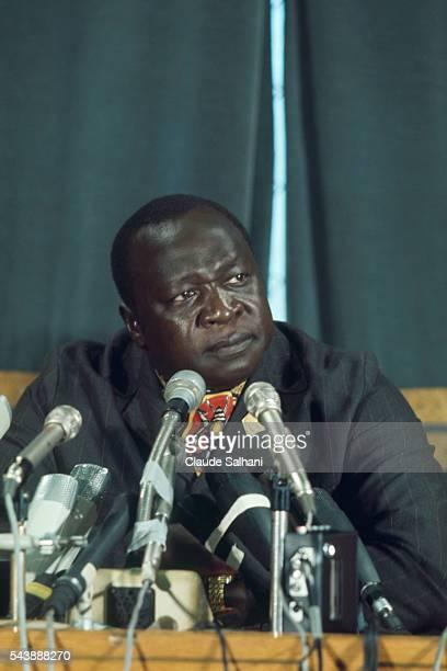 Ugandan dictator Idi Amin Dada during an AfroArab Summit in Cairo