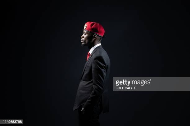 TOPSHOT Ugandan former musician and Uganda's political opposition figurehead Hon Kagulanyi Robert also known with his stage name Bobi Wine poses...