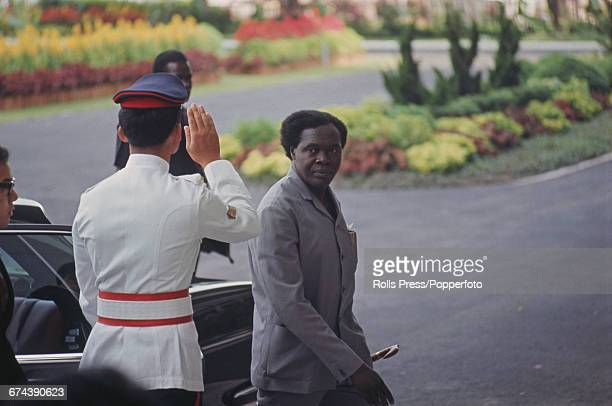 Ugandan politician and Prime Minister of Uganda Milton Obote pictured attending the first Commonwealth Heads of Government Meeting 1971 held in...