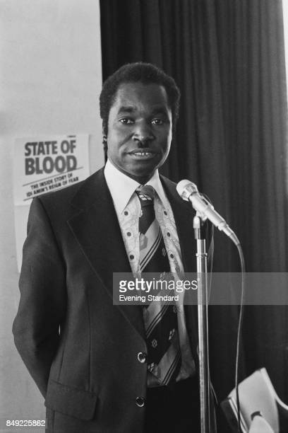 Ugandan politician Henry Kyemba presents his book 'A State of Blood' London UK 13th September 1977