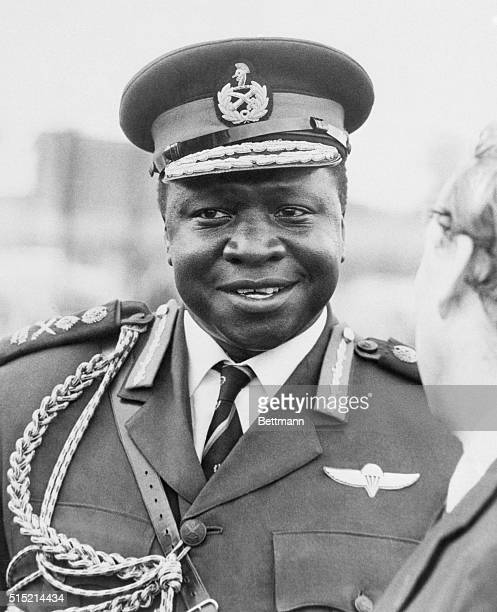 Ugandan President for Life Idi Amin in military attire.