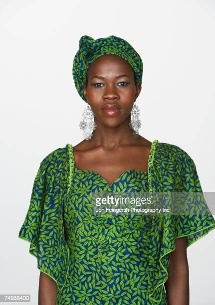 Ugandan woman wearing traditional dress