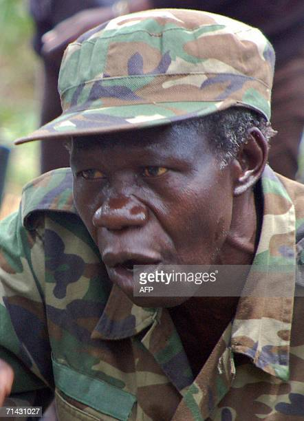 Uganda's Lord's Resistance Army deputy chief Vincent Otti meets 13 July 2006 in the jungle along the Sudan-Democratic Republic of Congo border where...