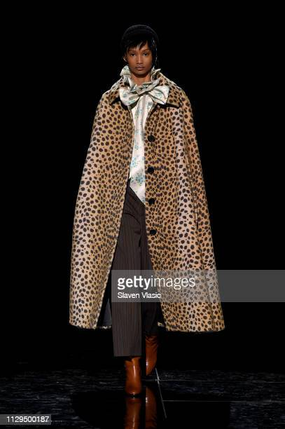 Ugbad Abdi walks the runway for the Marc Jacobs Fall 2019 Show at Park Avenue Armory on February 13 2019 in New York City