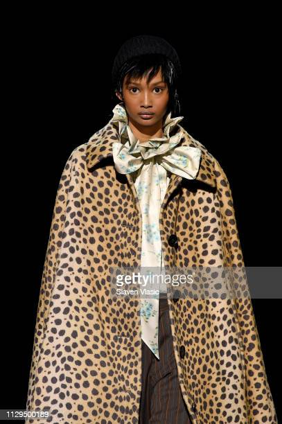 Ugbad Abdi walks the runway for the Marc Jacobs Fall 2019 Show at Park Avenue Armory on February 13, 2019 in New York City.
